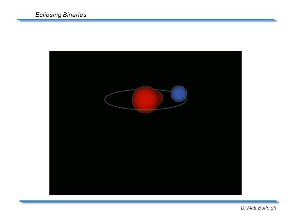 Dr Matt Burleigh Eclipsing Binaries