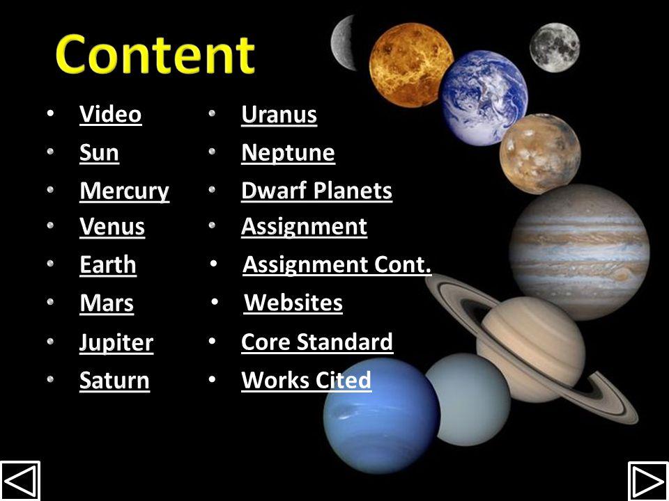 Mercury Venus Earth Mars Jupiter Saturn Uranus Neptune Dwarf Planets Sun Eris Pluto Ceres By Michelle Stephens