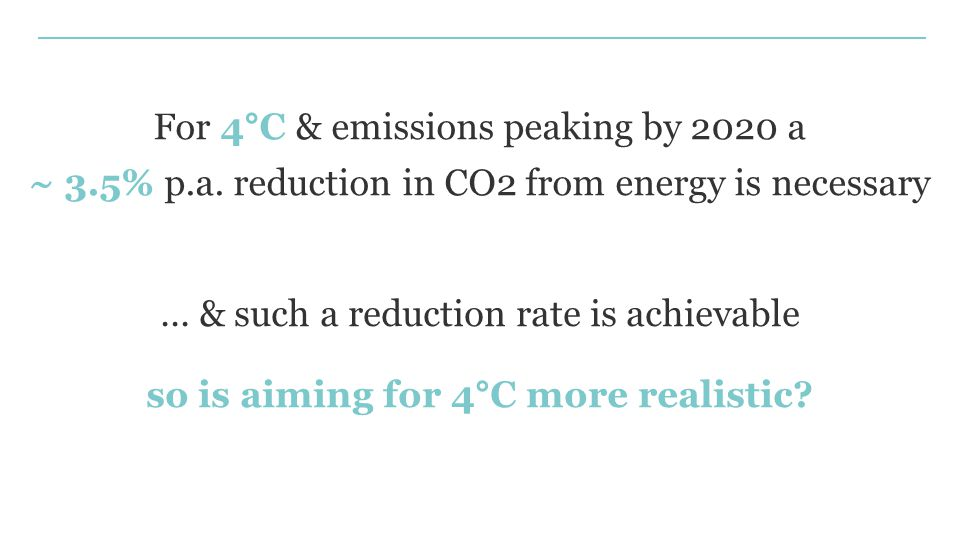 ... & such a reduction rate is achievable so is aiming for 4°C more realistic.