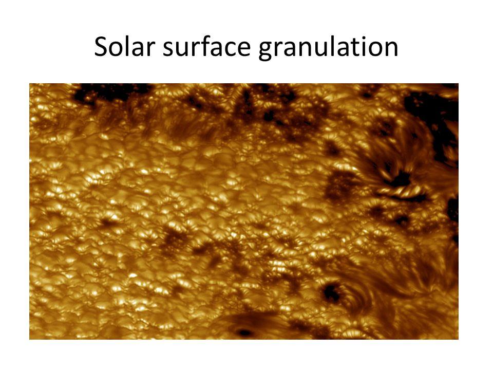 Solar surface granulation