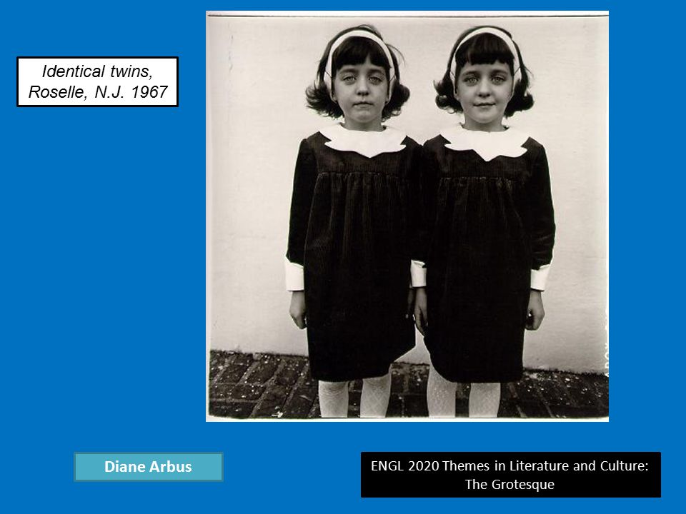 ENGL 2020 Themes in Literature and Culture: The Grotesque Diane Arbus Identical twins, Roselle, N.J.