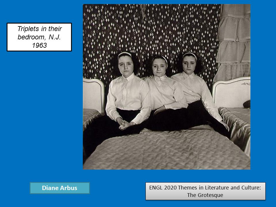 ENGL 2020 Themes in Literature and Culture: The Grotesque Diane Arbus Triplets in their bedroom, N.J.