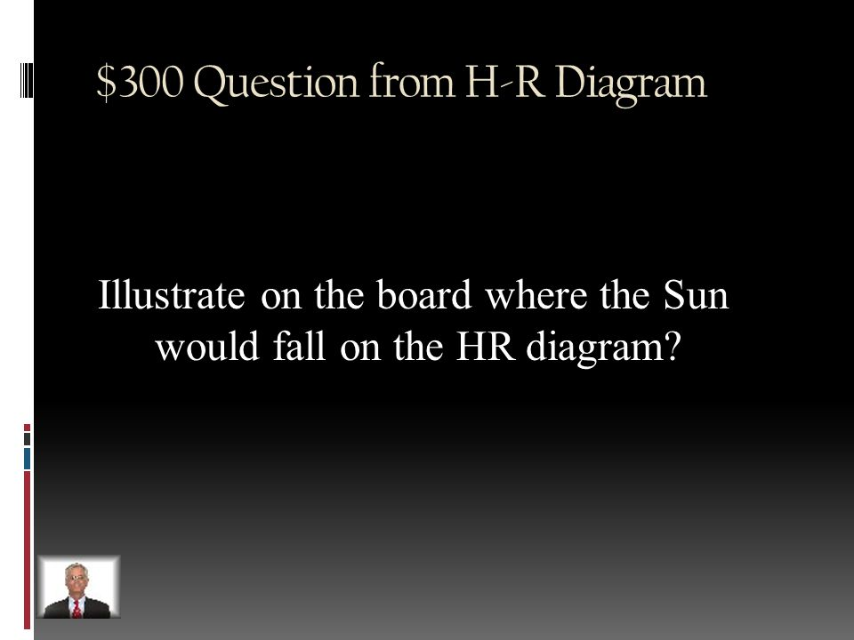 $200 Answer from H-R Diagram Main sequence stars