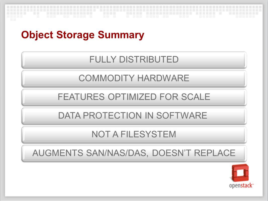 Object Storage Summary