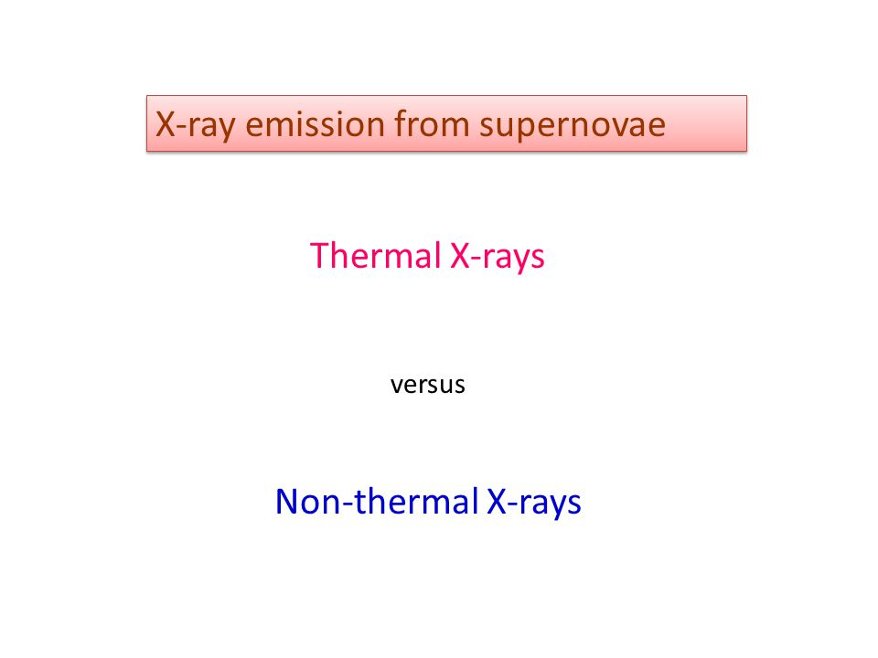 X-ray emission from supernovae Thermal X-rays versus Non-thermal X-rays
