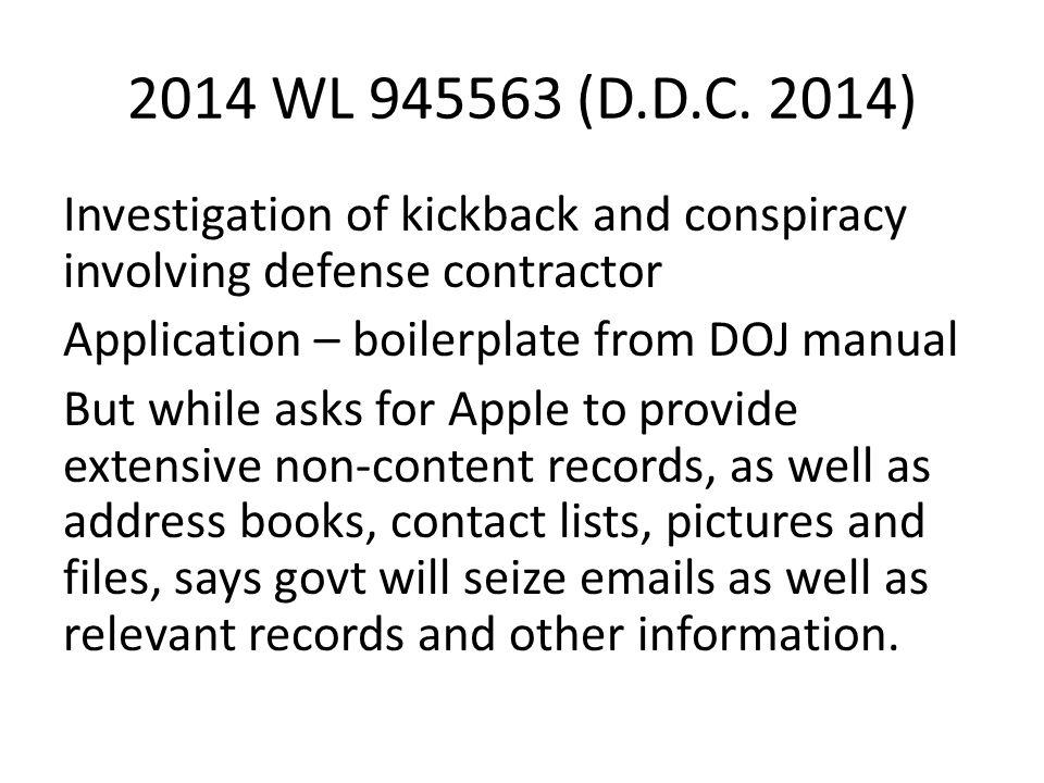 2014 WL 945563 (D.D.C.