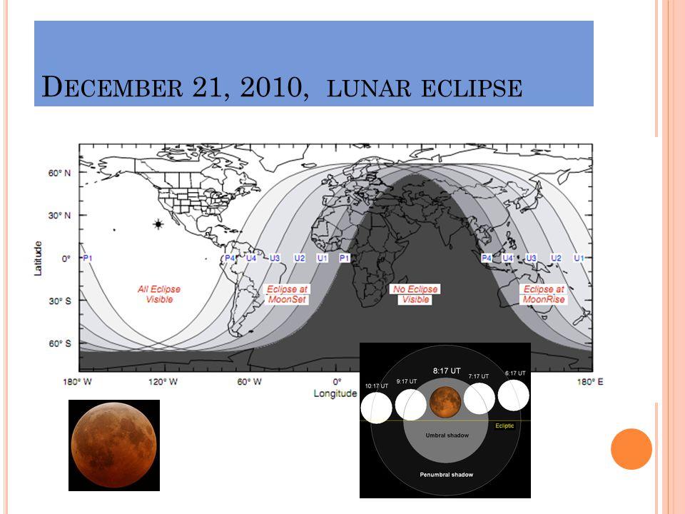 D ECEMBER 21, 2010, LUNAR ECLIPSE