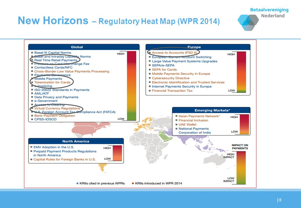 | New Horizons – Regulatory Heat Map (WPR 2014) 8