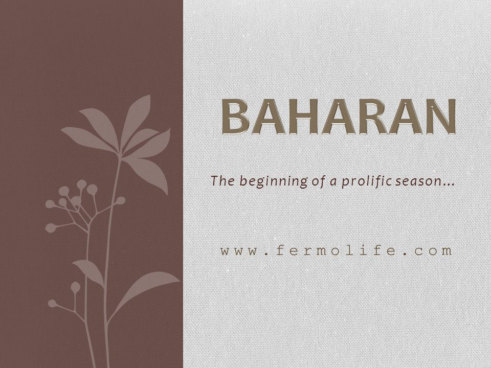 The beginning of a prolific season… www.fermolife.com