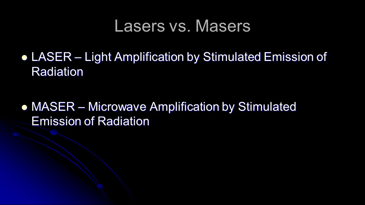 Lasers vs.