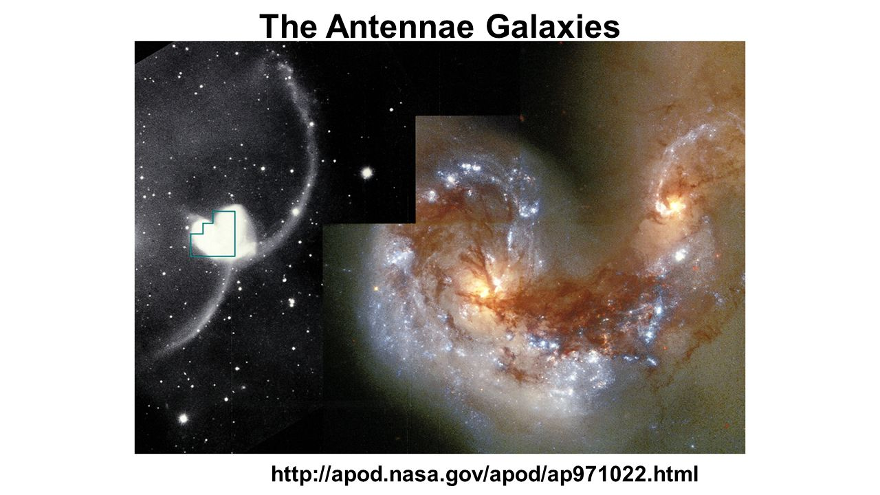 The Antennae Galaxies http://apod.nasa.gov/apod/ap971022.html