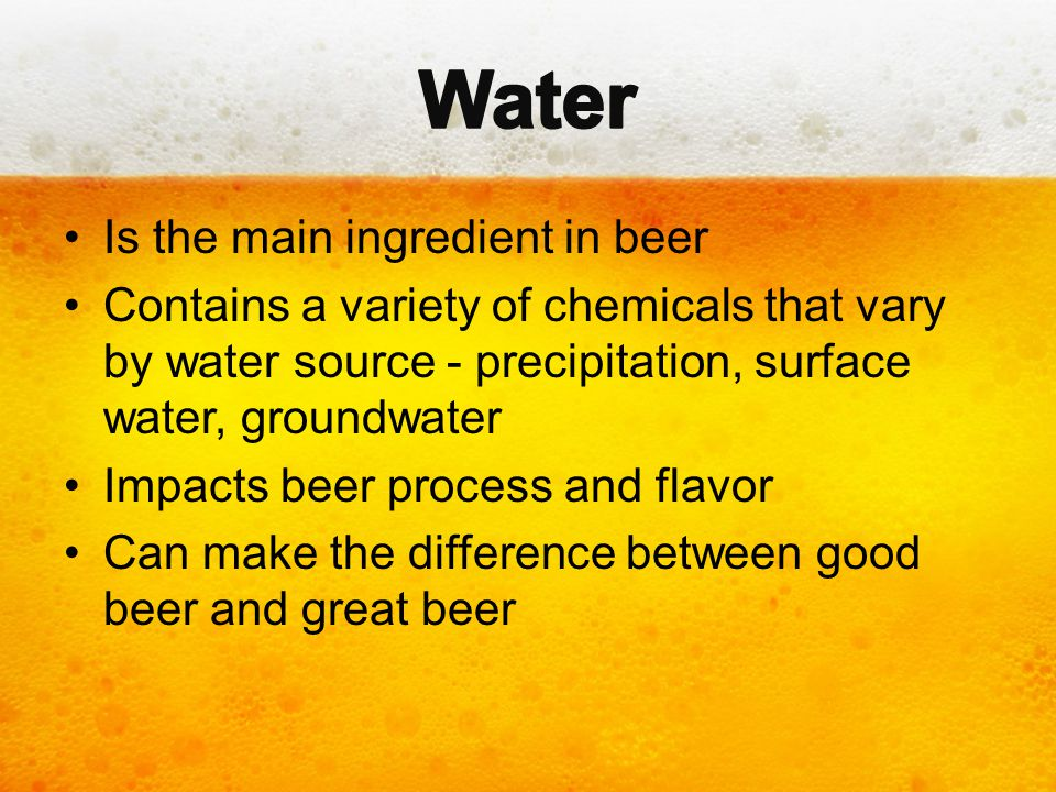 At low concentrations (<100 ppm), sodium gives a slightly sweet flavor to beer.