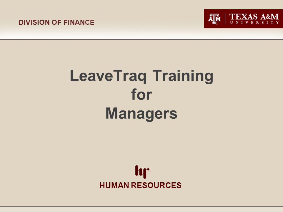 Human Resources LeaveTraq Training for Managers 7/20/2009 Page 32 Division of Finance This is the information provided on the Show Details screen Show Details Screen