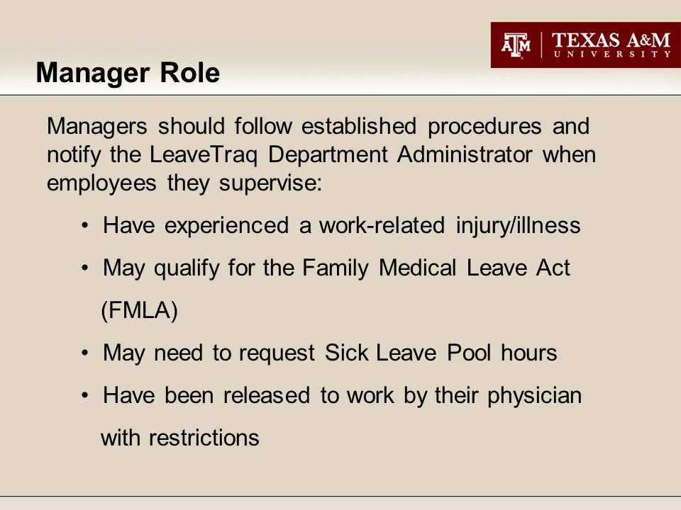 Under the old paper leave request system, Managers would sometimes assign another employee the responsibility of requesting personal leave on their behalf.