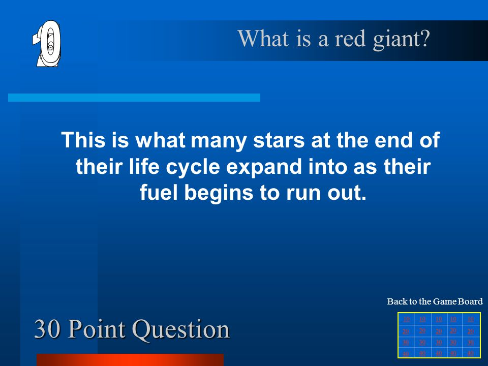 20 Point Question This is a huge exploding star.