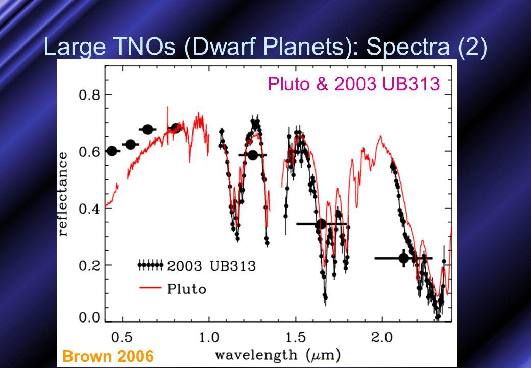 Large TNOs (Dwarf Planets): Spectra (2) Brown 2006 Pluto & 2003 UB313