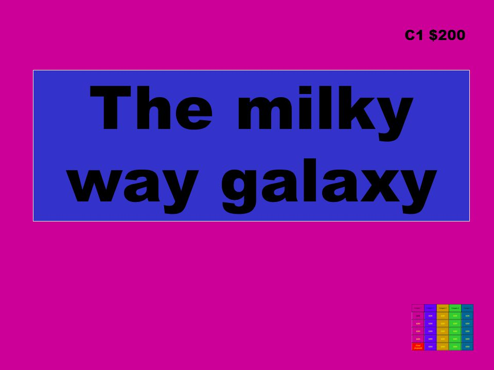 The milky way galaxy C1 $200
