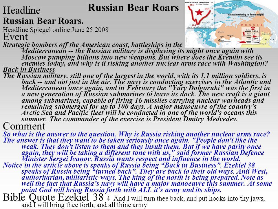 Headline Russian Bear Roars.