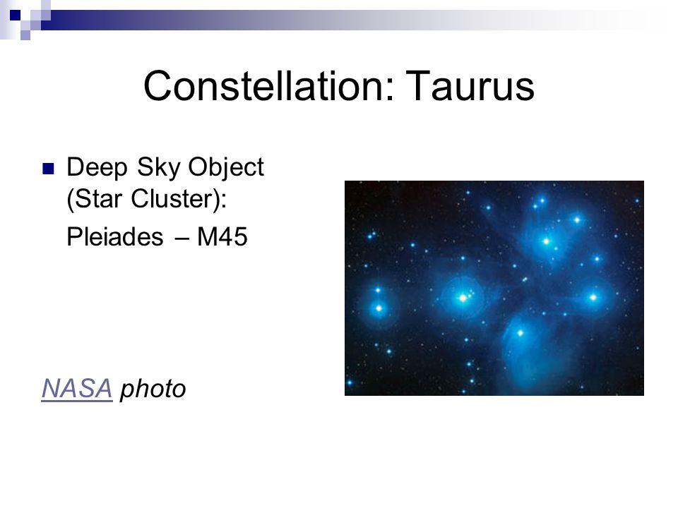 Constellation: Taurus Deep Sky Object (Supernova Remnant): Crab Nebula – M1