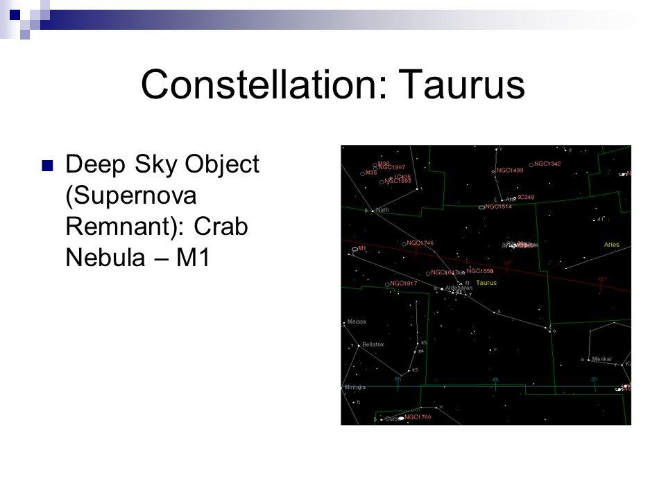 Constellation: Taurus Deep Sky Object (Supernova Remnant): Crab Nebula – M1 Nasa/ESA Image