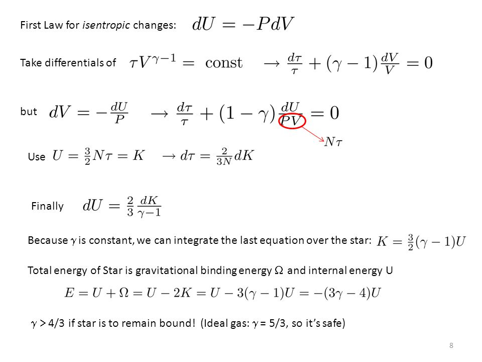 Suppose gas pressure contributes a fraction to the total pressure.