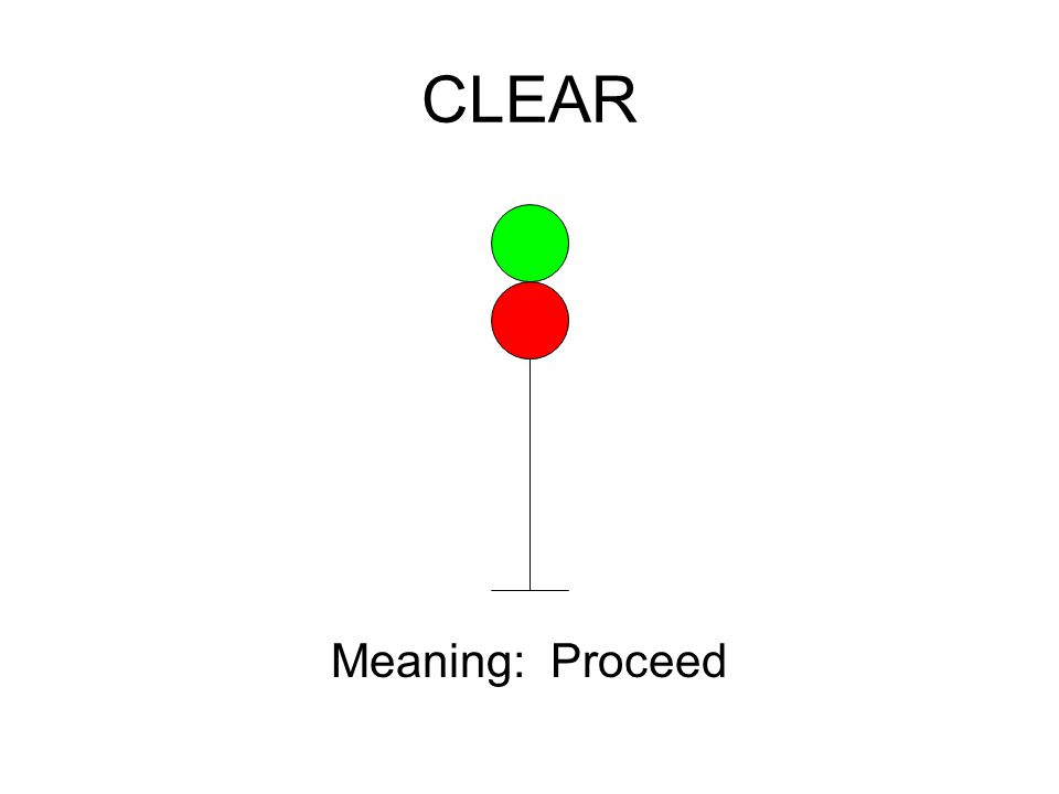 CLEAR Meaning: Proceed
