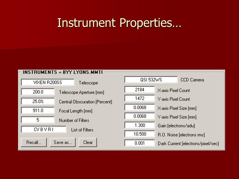 Instrument Properties…