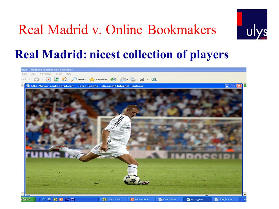 Thank you.thibault.verbiest@ulys.net www.ulys.net & c OMMENTS Q UESTIONS Real Madrid v.