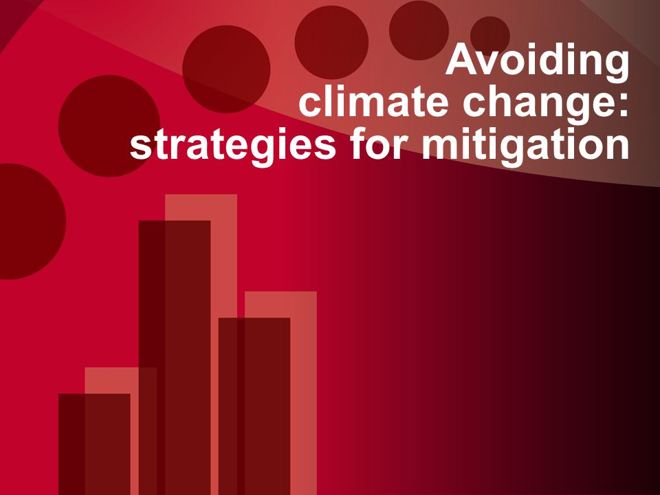 Avoiding climate change: strategies for mitigation