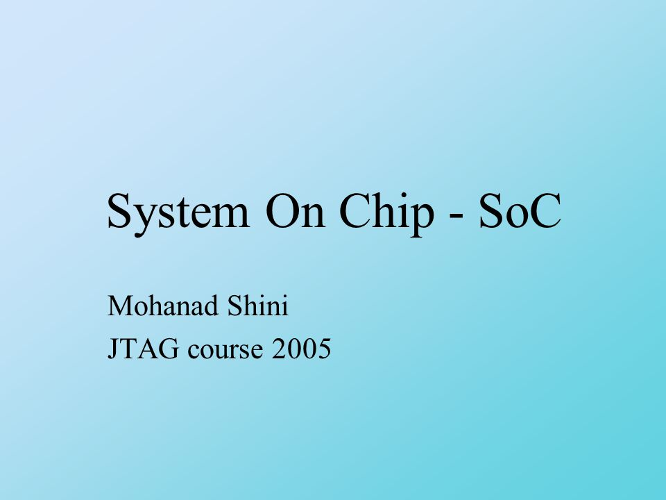 System on Chip cores One solution to the design productivity gap is to make ASIC designs more standardized by reusing segments of previously manufactured chips.