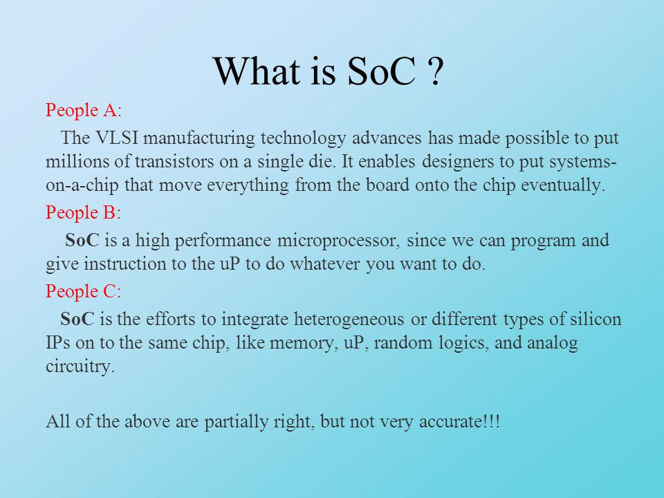 What is SoC .