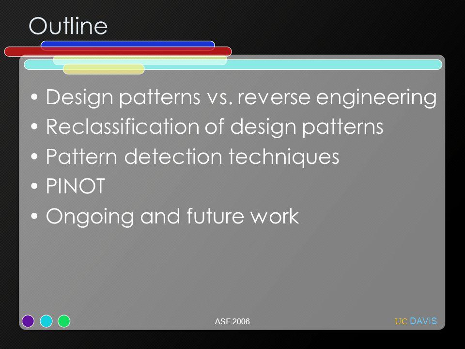 ASE 2006 Outline Design patterns vs.