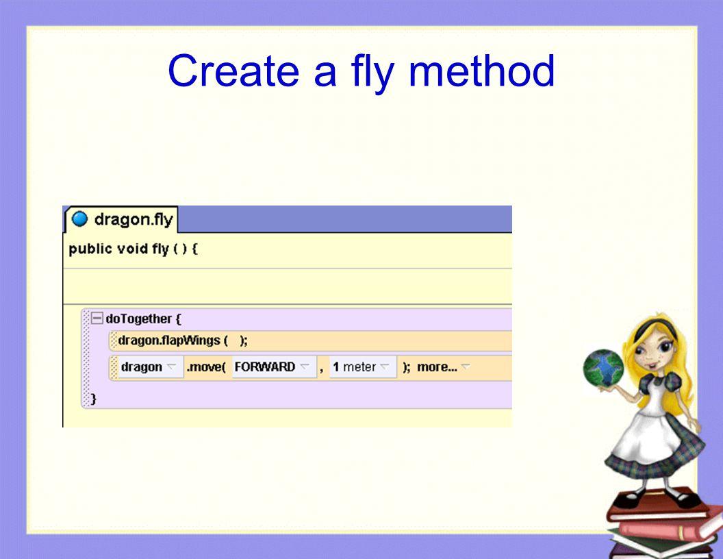 Create a fly method