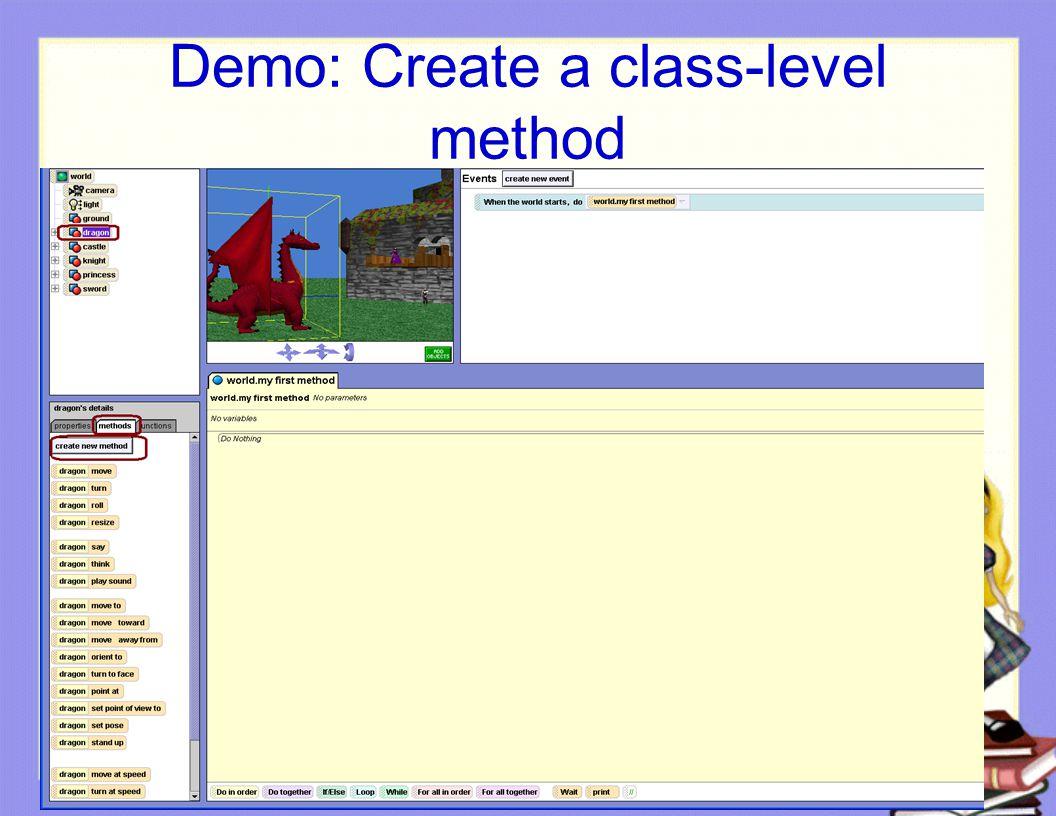 Demo: Create a class-level method