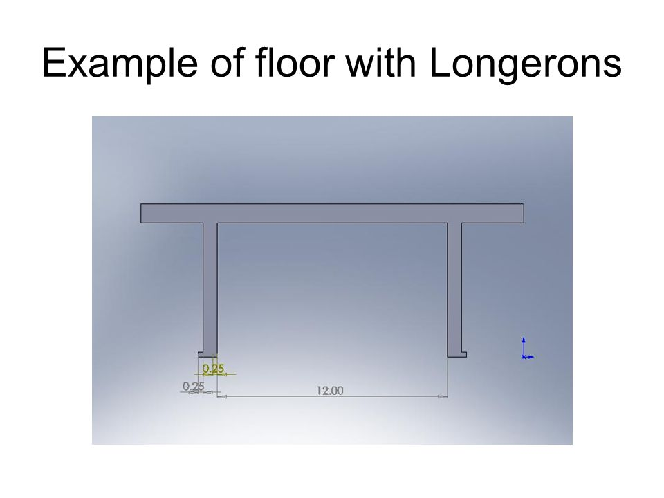 Example of floor with Longerons