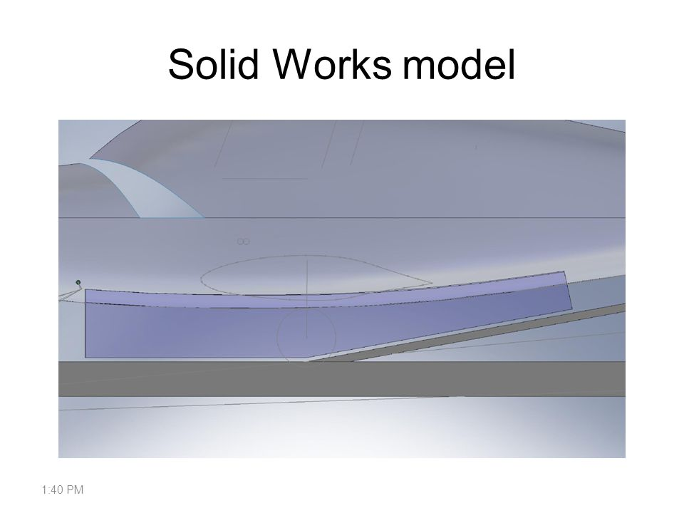 Solid Works model 1:42 PM