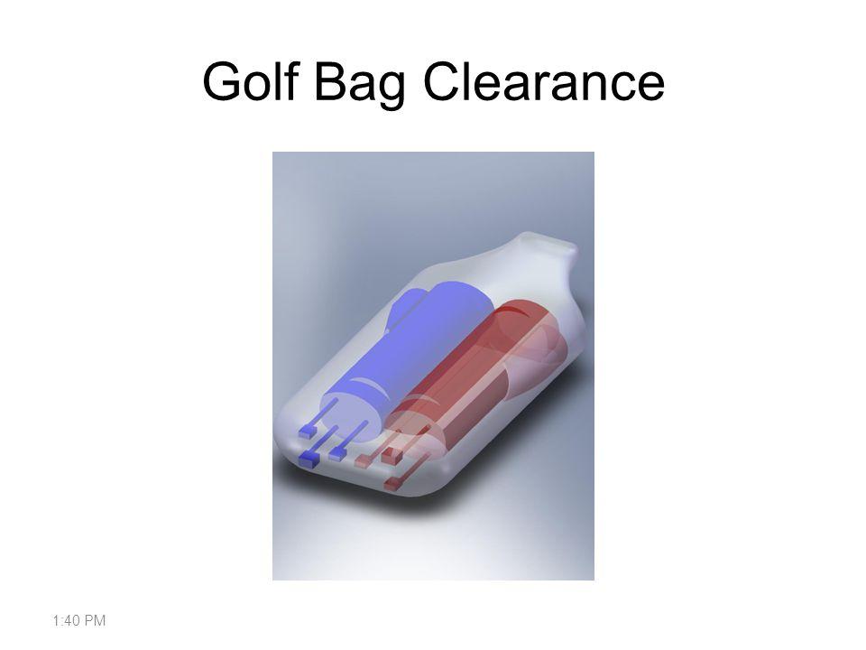 Golf Bag Clearance 1:42 PM