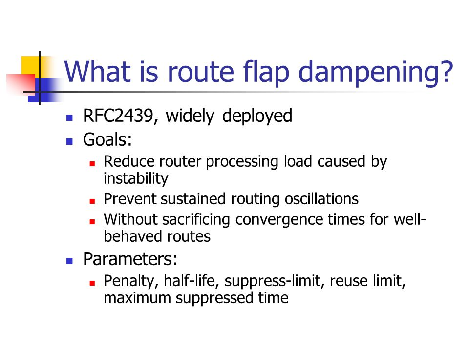 What is route flap dampening.