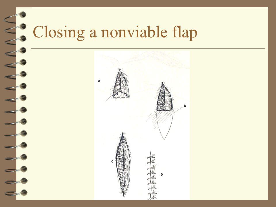 Closing a nonviable flap