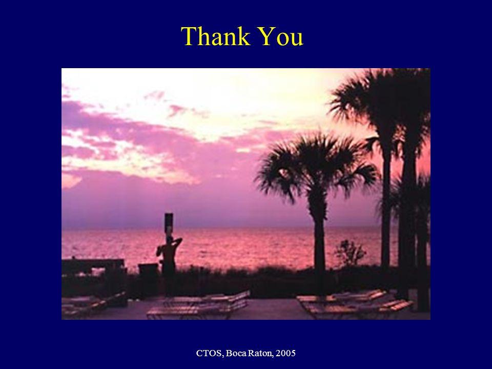 CTOS, Boca Raton, 2005 Thank You