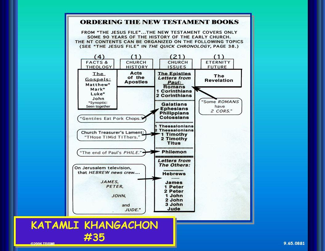 © 2006 TBBMI 9.65.08. Kadhara Tuingashit ngarumda rai KATAMLI KHANGACHON #35 ©2006 TBBMI 9.65.08.