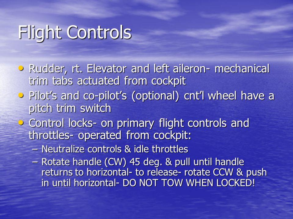 Flight Controls Rudder, rt.