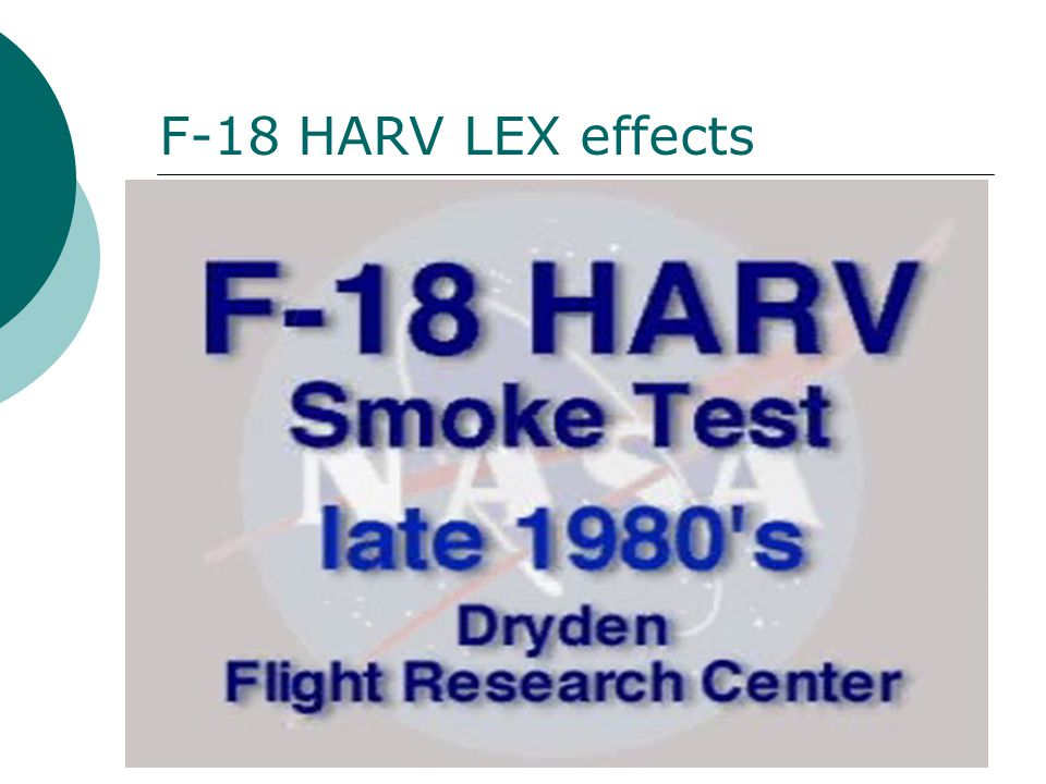 F-18 HARV LEX effects