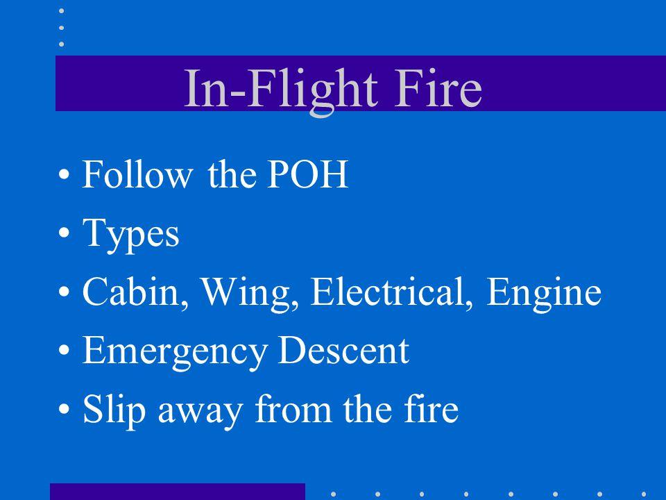 In-Flight Fire Follow the POH Types