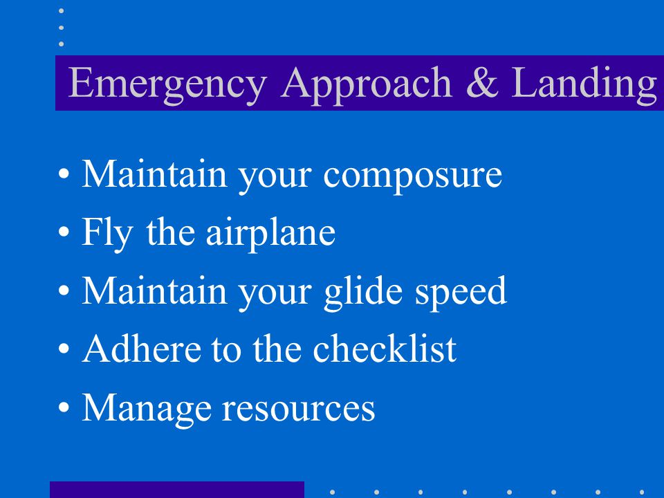 A pilot s most immediate and vital concern in the event of complete engine failure after becoming airborne on takeoff is