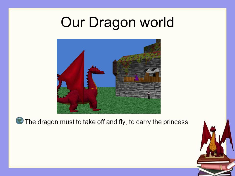 Storyboards We can make the dragon takeOff and fly.