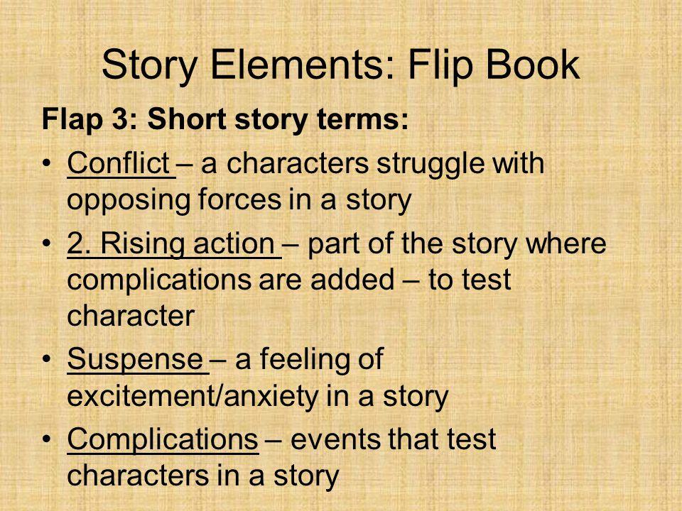Story Elements: Flip Book Flap 3: Short story terms: 3.