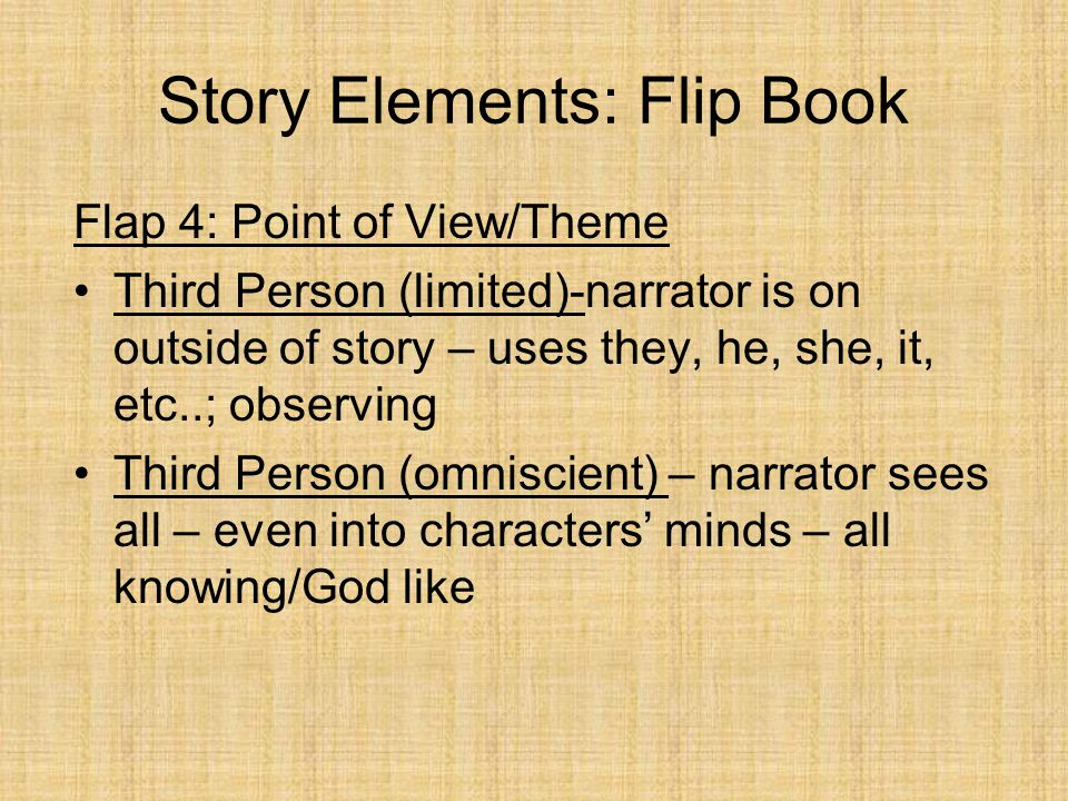 A little trick to remember Point of View…