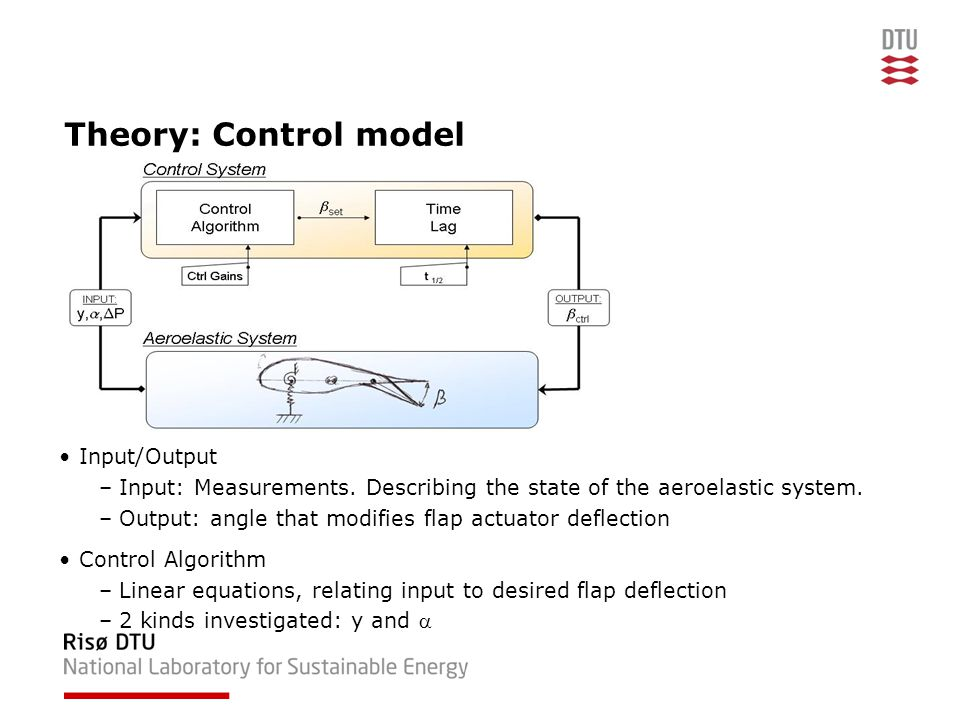 Theory: Control model Input/Output –Input: Measurements.