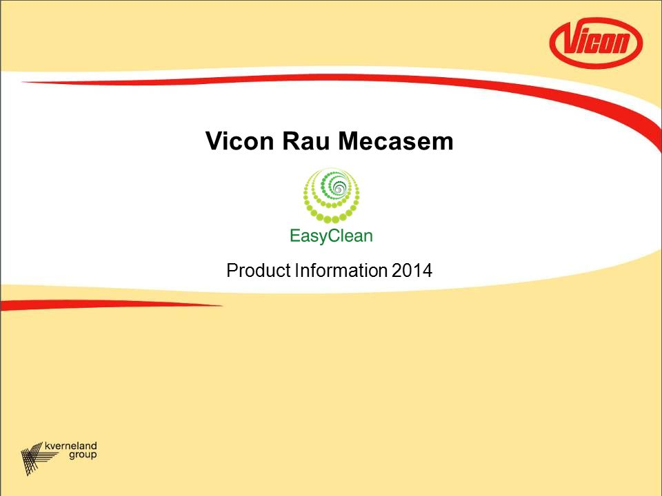 Vicon Rau Mecasem Product Information 2014